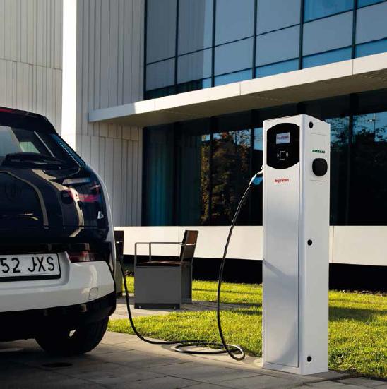 Punto de recarga Fusión para vehículos eléctricos