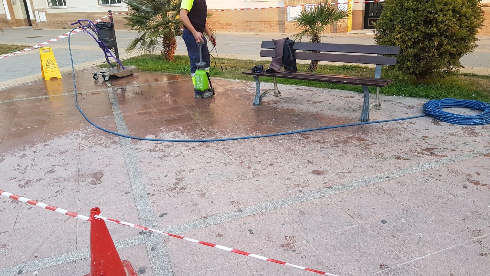 Demostración de recuperación de pavimentos en Alcalá de Guadaira.