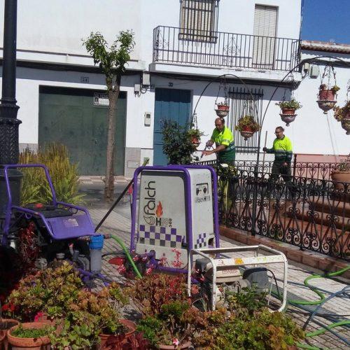 Segunda fase de recuperación de pavimentos en Almonte