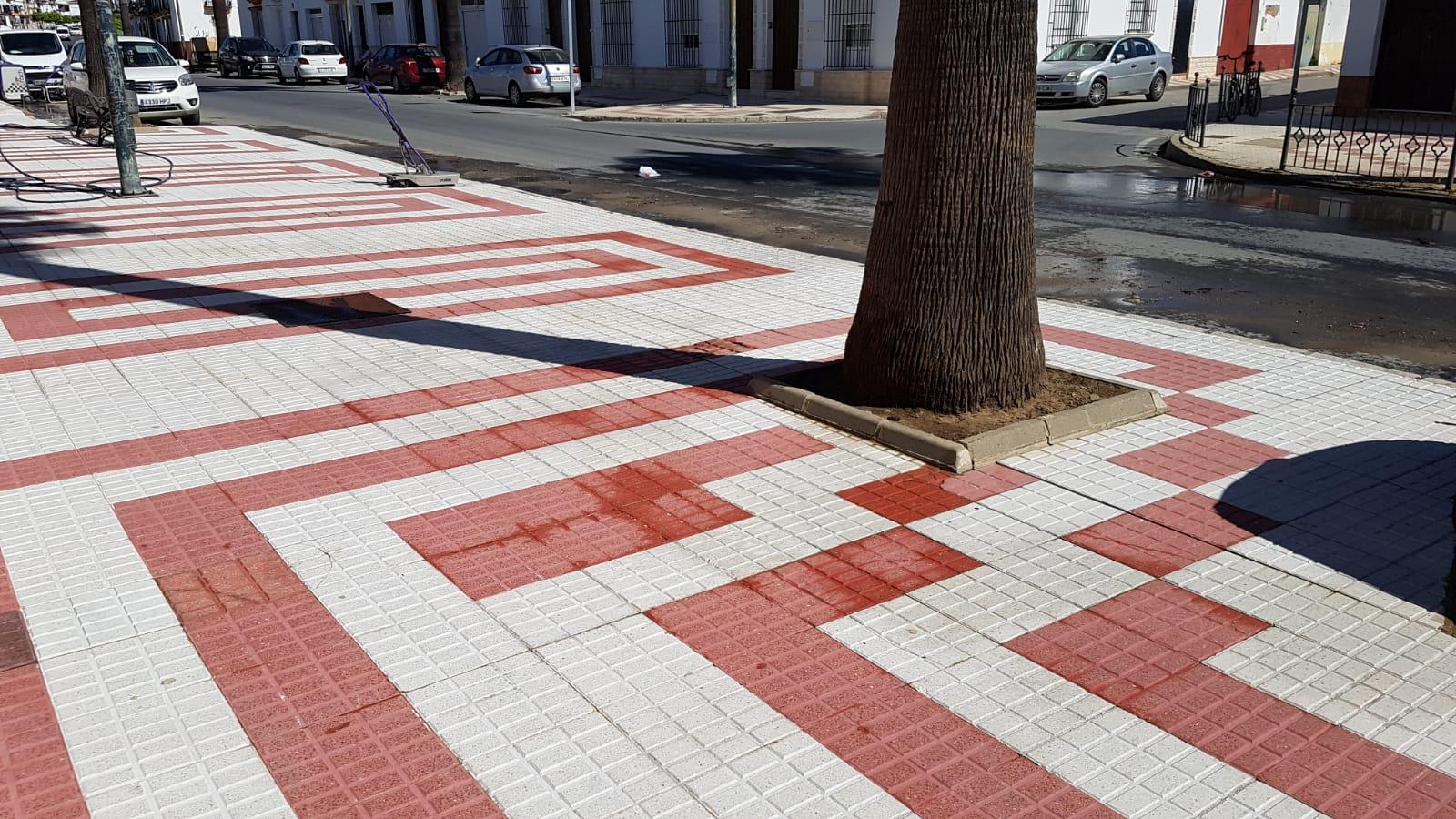 Recuperación de pavimentos en Lora del Río