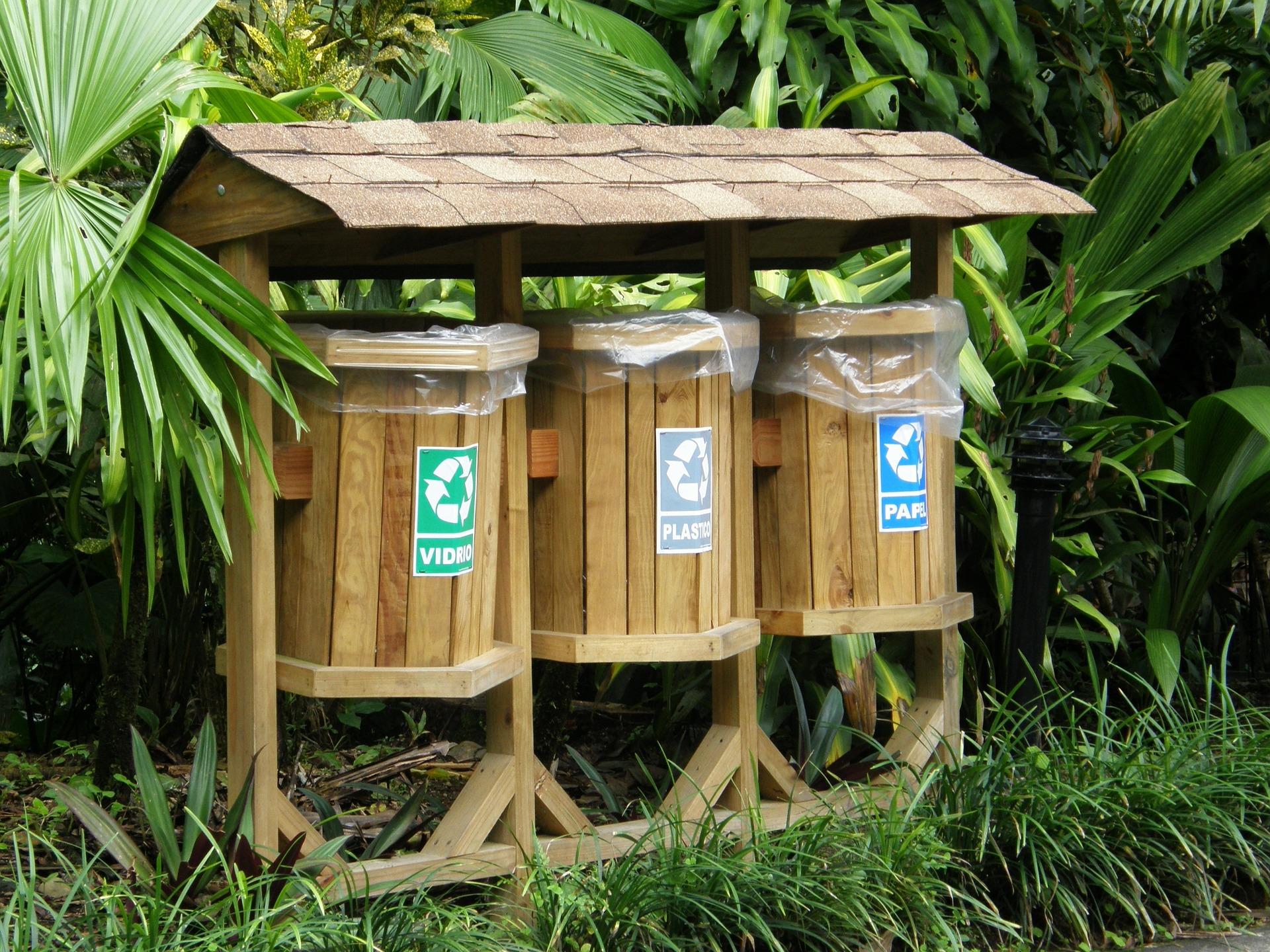 ¿Qué tipos de contenedores de reciclaje existen?