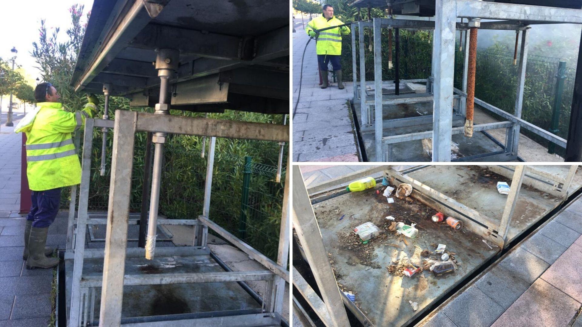 comprobacion del estado de los contenedores soterrados benahavis