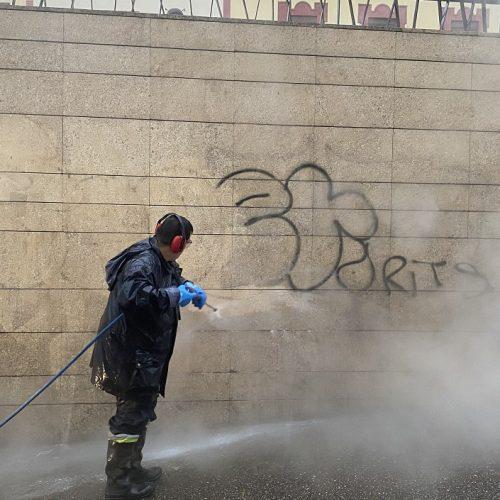 Novatecnic concluye el tratamiento para la eliminación de graffitis en Alcalá de Guadaíra
