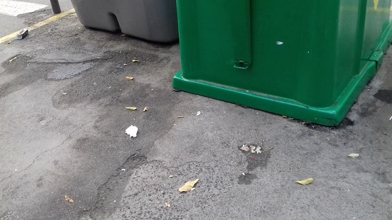 eliminar manchas en la via publica